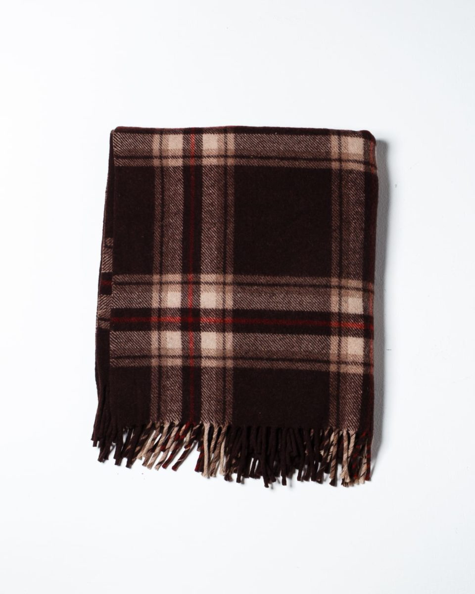 Front view of Wilbur Plaid Throw