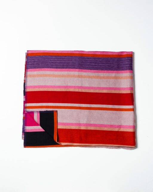 Front view of Spencer Stripe Blanket