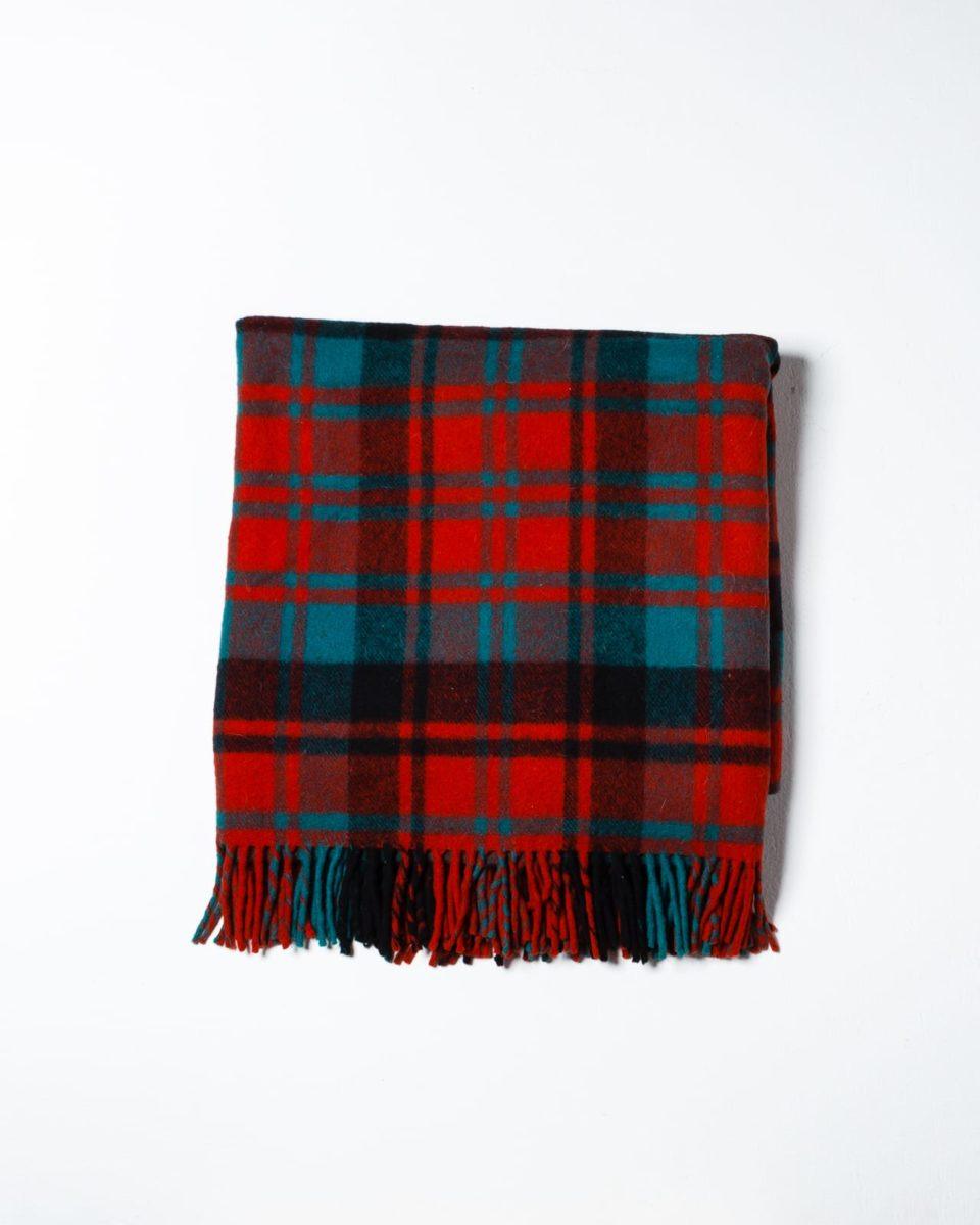 Front view of Quinn Plaid Throw