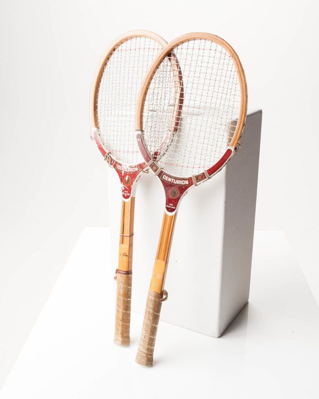 Front view of Centurion Tennis Racket Pair