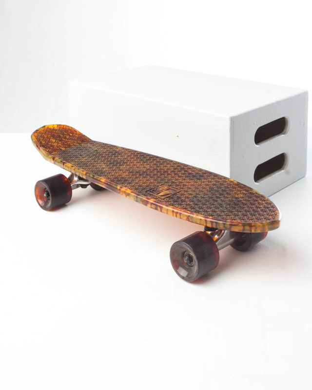 Front view of Amber Skateboard