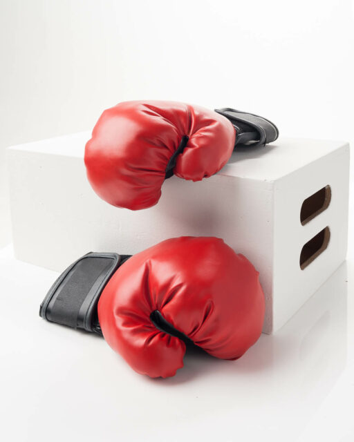 Front view of Red Boxing Gloves