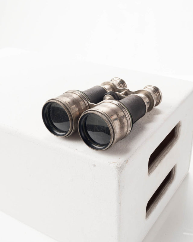 Front view of Pizarro Silver Rimmed Binoculars