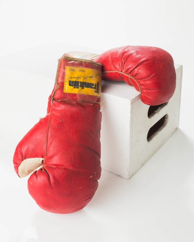 Front view of Luis Vintage Boxing Gloves