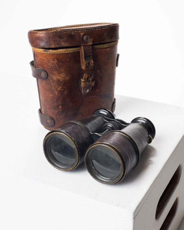 Front view of Michael Binoculars with Case