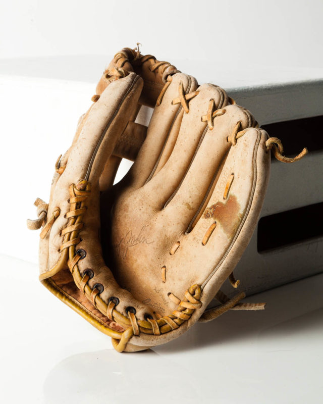 Front view of Ruth Vintage Baseball Glove