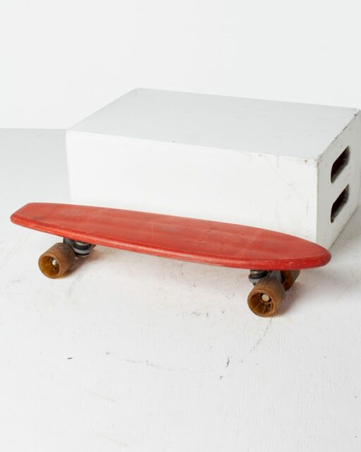 Front view of Malibu Red Skateboard