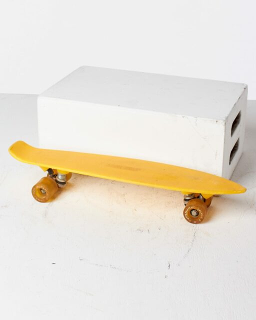 Front view of Venice Yellow Skateboard
