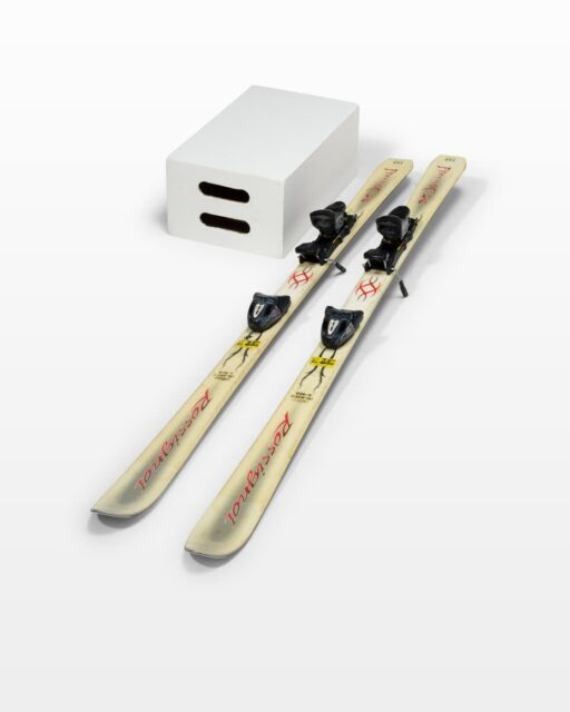 Front view of Claude Skis