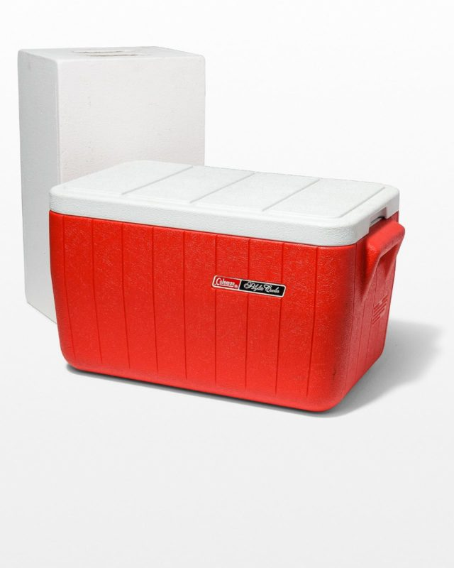 Front view of Shore Red Cooler