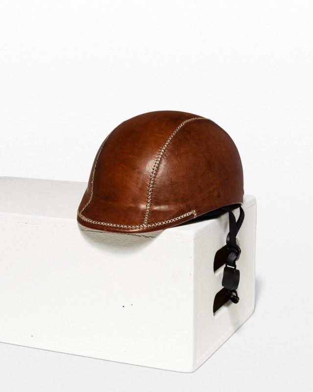 Front view of Jayson Brown Leather Helmet