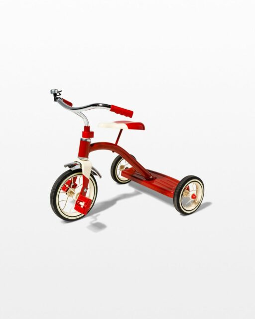 Front view of Dash Red Tricycle