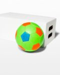 Front view thumbnail of Atomic Green Kids Soccer Ball