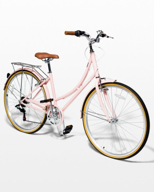 Front view of Hayley Blush Pink Bicycle