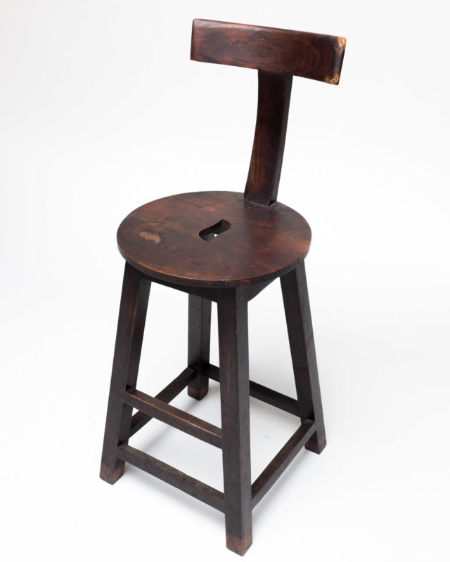 Front view of Amos Wooden Stool