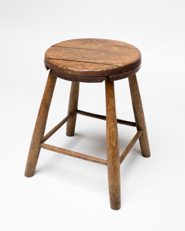 Front view of Short Barn Stool