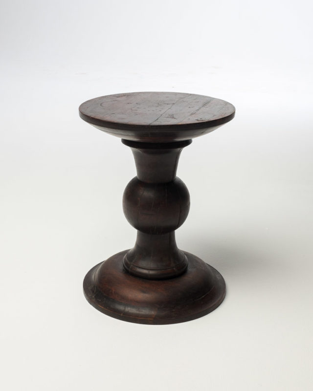 Front view of Carved Stool