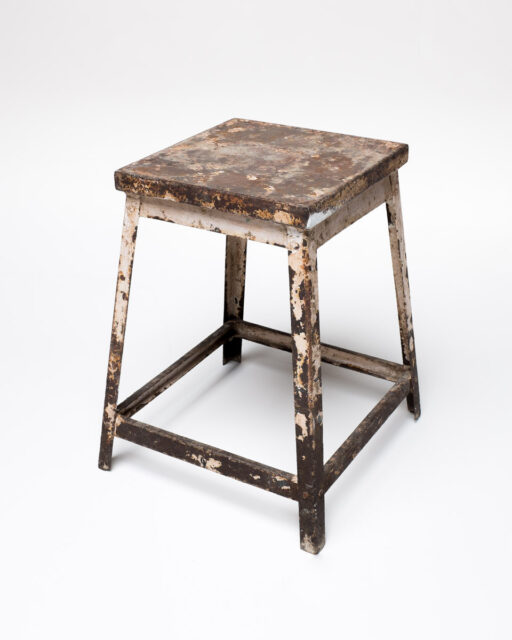 Front view of Selk Rust Stool