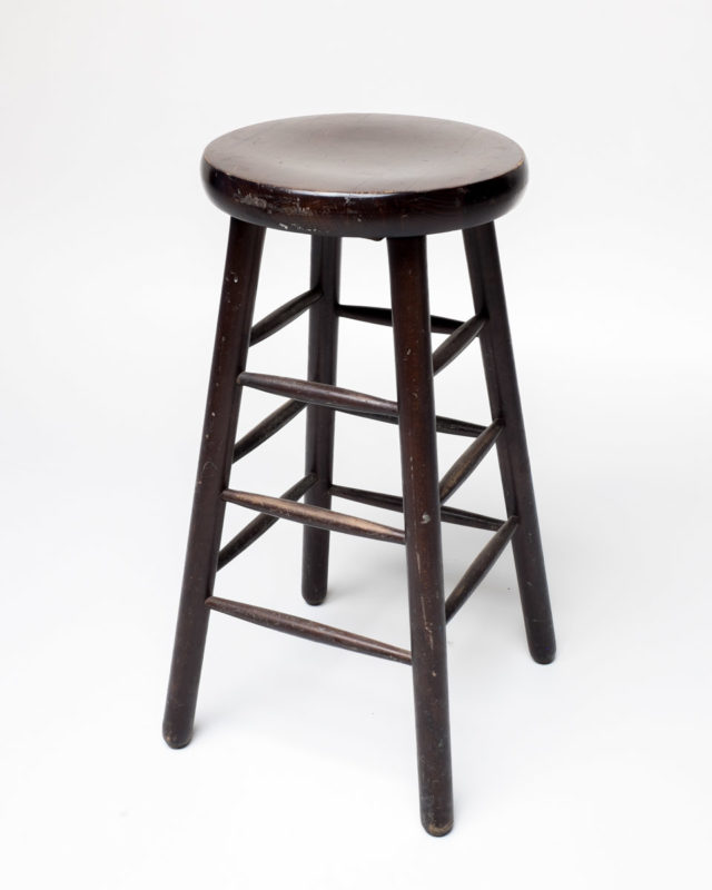 Front view of Dark Stain Stool