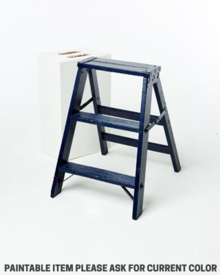 Front view of Short Paintable Ladder Stool