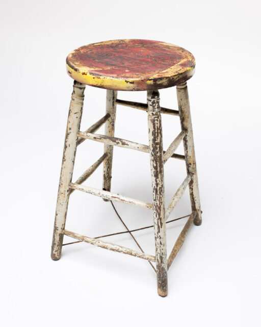 Front view of Myra Distressed Stool