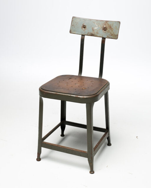Front view of Hera Industrial Stool