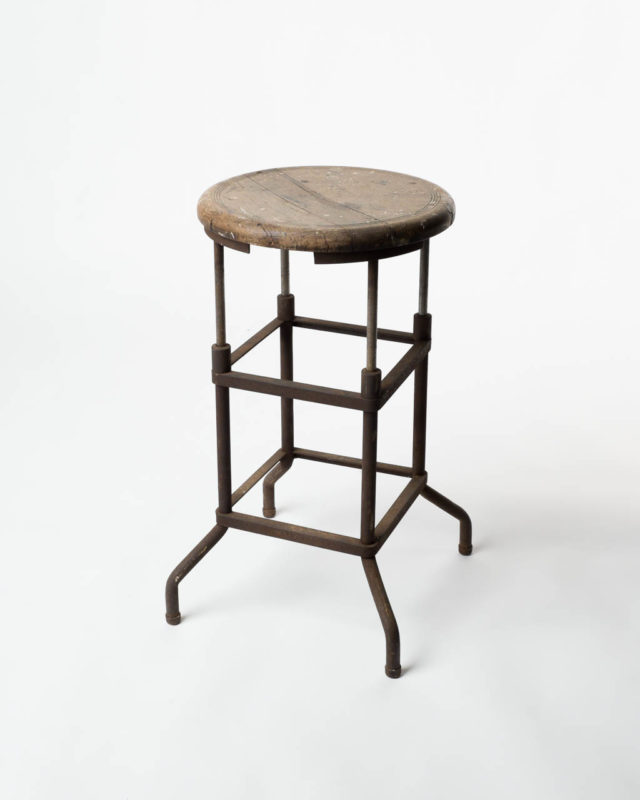 Front view of Ironwork Stool