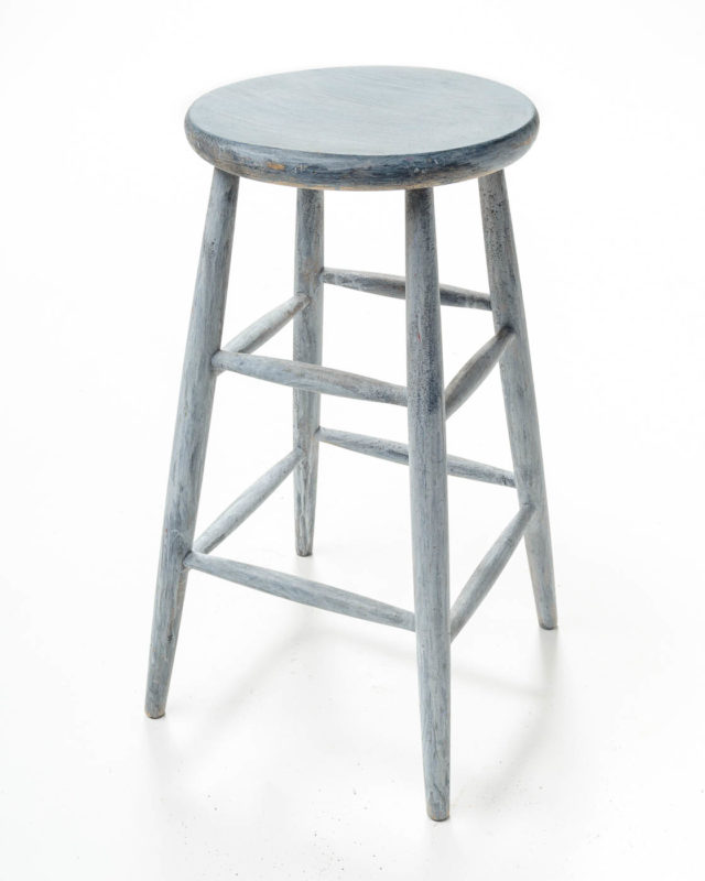 Front view of Fisk Gray Wash Stool