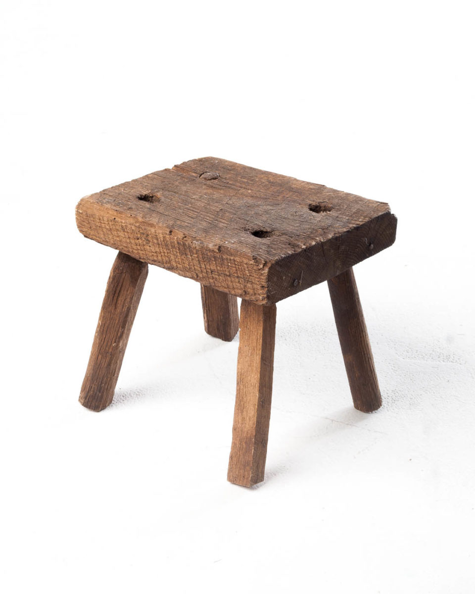Front view of Short Reclaimed Slab Stool