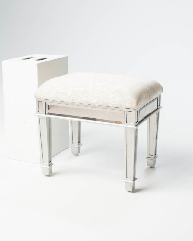 Front view of Garbo Mirrored Stool