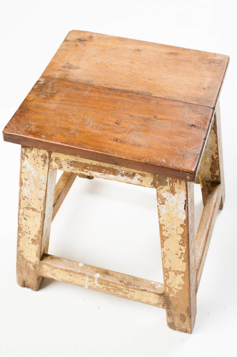 Alternate view 1 of Distressed Riser Stool