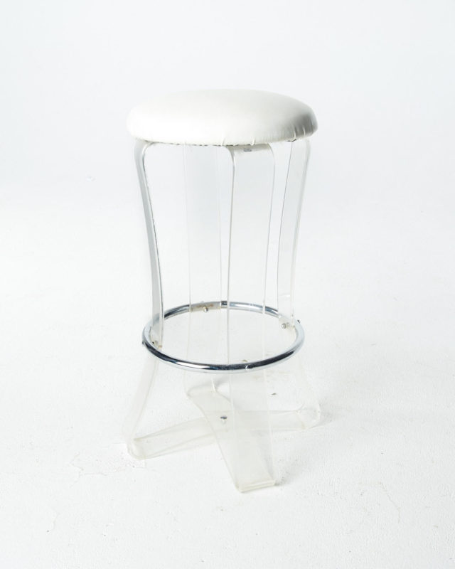 Front view of Pearl Acrylic Stool