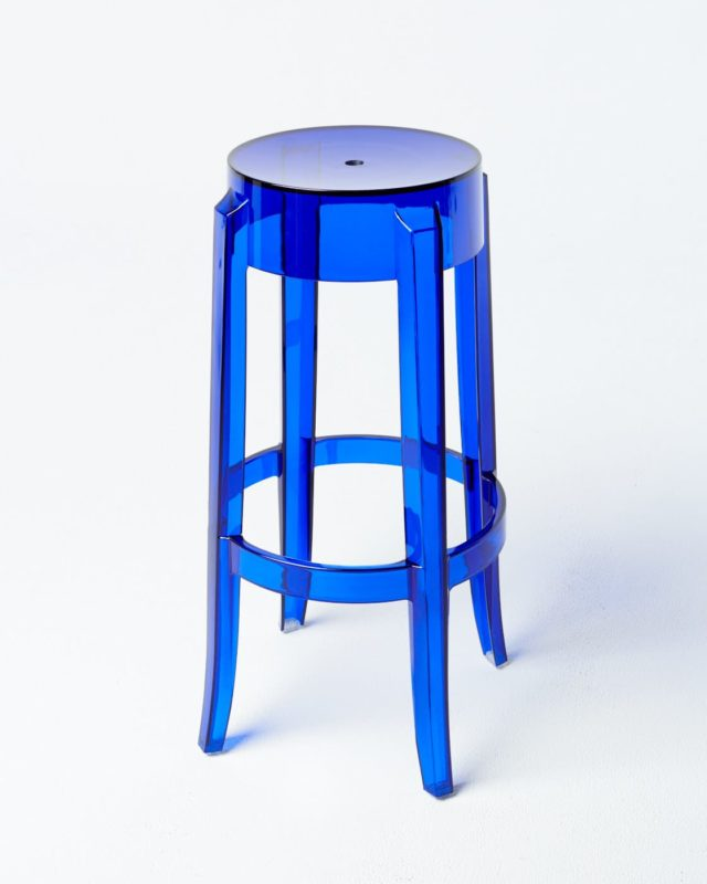 Front view of Blue Ghost Stool