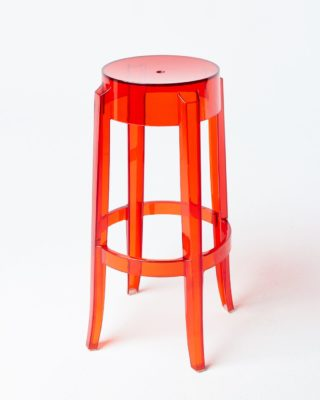 Front view of Red Ghost Stool