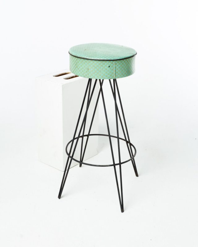 Front view of Jasper Hairpin Stool