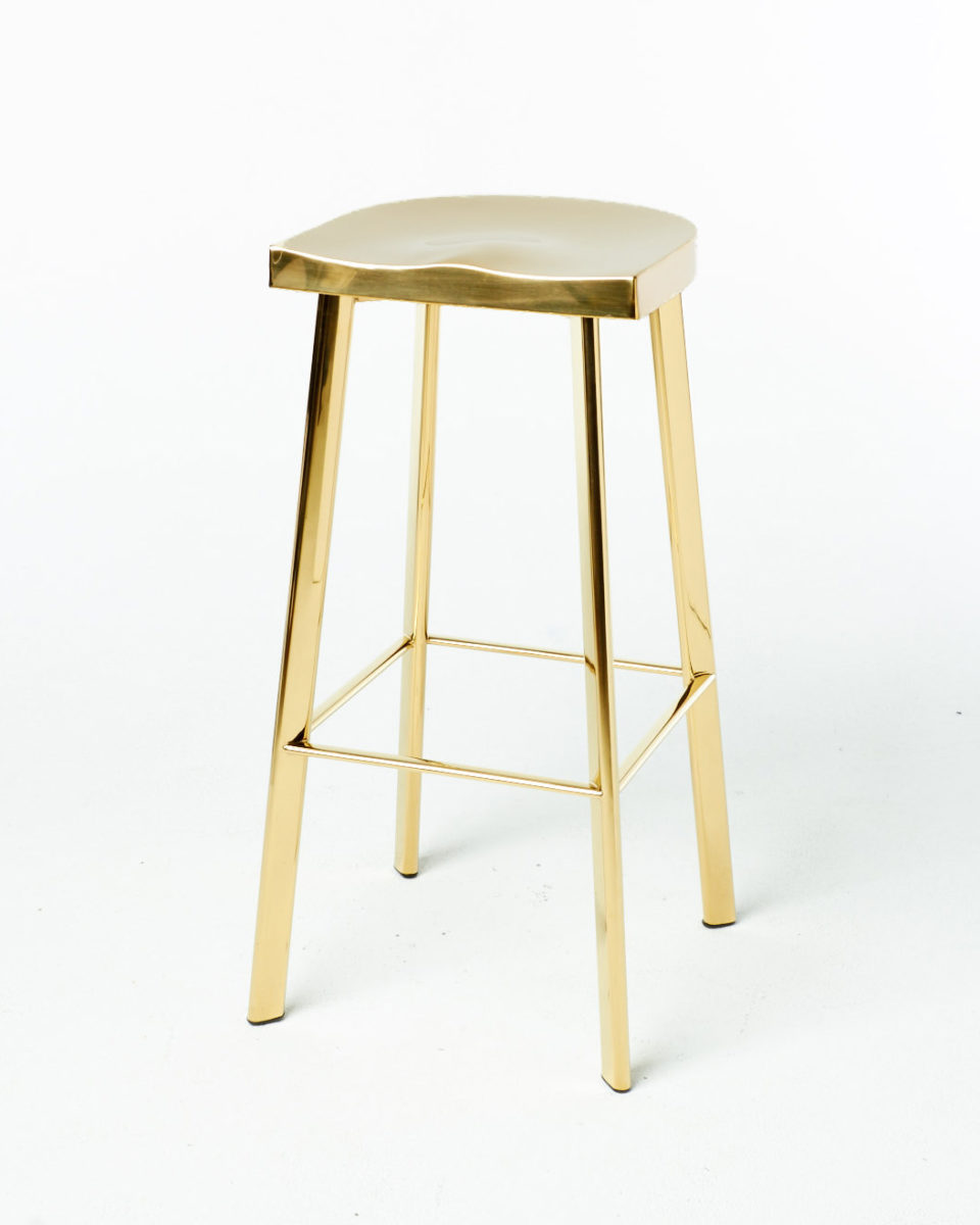 Front view of Laurel Gold Stool