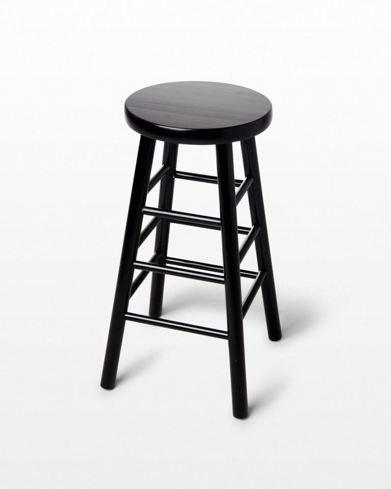 Front view of Union Black Stool