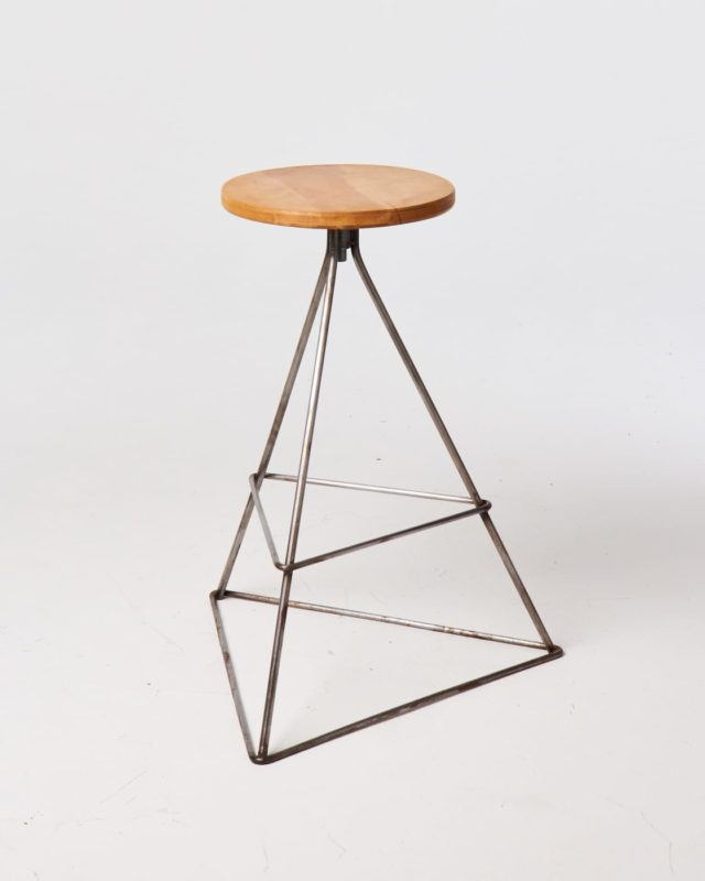 Front view of Silver Axis Stool