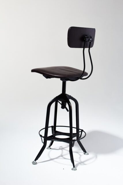 Alternate view 2 of Clayton Adjustable Leather Seat Stool
