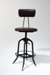 Alternate view thumbnail 1 of Clayton Adjustable Leather Seat Stool