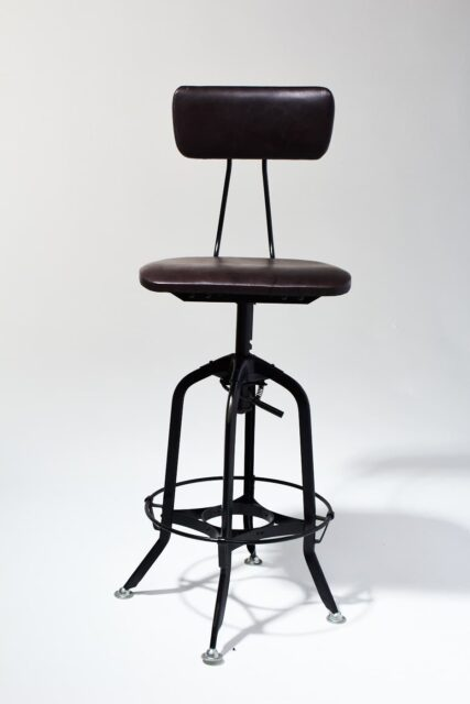 Alternate view 1 of Clayton Adjustable Leather Seat Stool