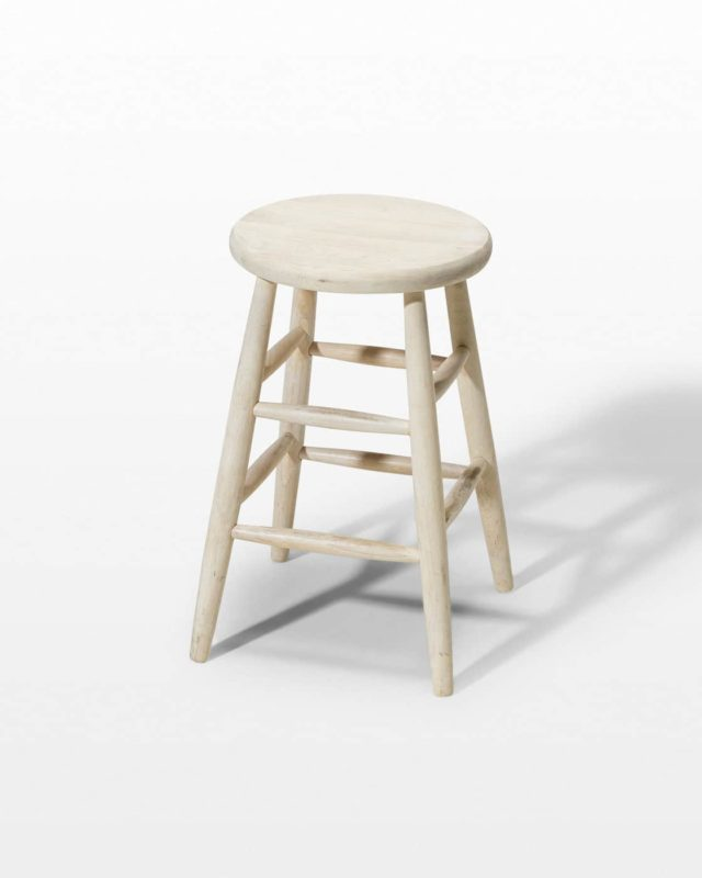 Front view of Short Birch Stool