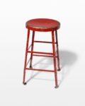 Front view thumbnail of Lewis Distressed Red Stool