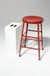 Alternate view thumbnail 1 of Lewis Distressed Red Stool