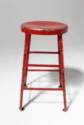 Alternate view 2 of Lewis Distressed Red Stool
