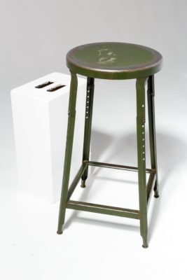 Alternate view 1 of Hoskin Distressed Green Stool