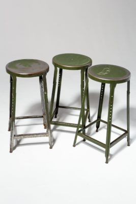 Alternate view 3 of Hoskin Distressed Green Stool