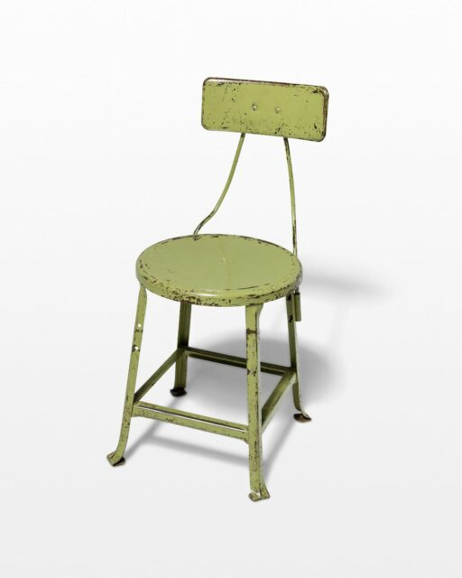 Front view of Kane Distressed Green Stool