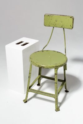 Alternate view 1 of Kane Distressed Green Stool