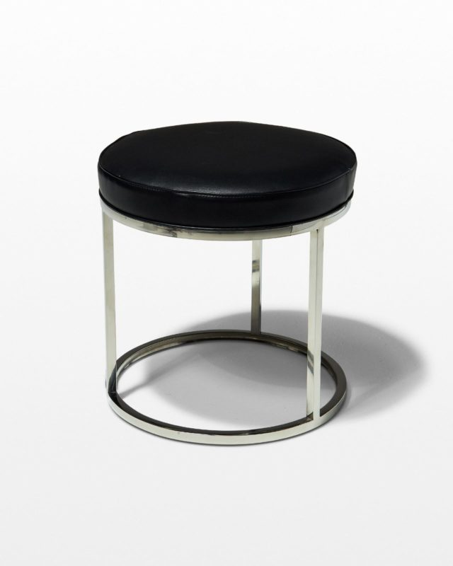 Front view of Tristan Black and Chrome Stool